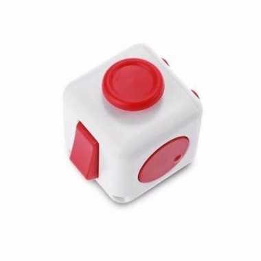 Speelgoed fidget cube wit