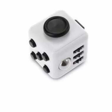 Speelgoed fidget cube wit 10094615
