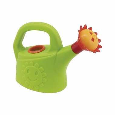 Speelgoed gieter groen met zonnebloem