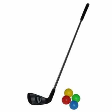 Speelgoed golfclub met 4 ballen