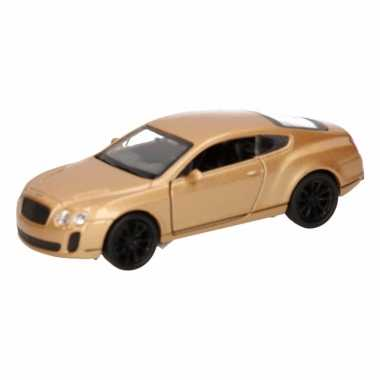 Speelgoed gouden bentley continental supersports auto 12 cm