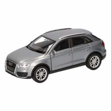 Speelgoed grijze audi q3 auto 12 cm