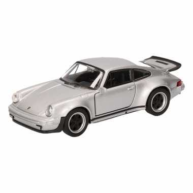 Speelgoed grijze porsche 911 turbo auto 12 cm