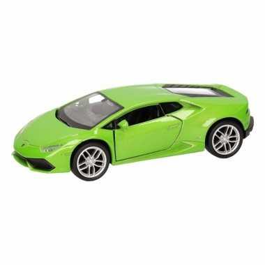 Speelgoed groene lamborghini huracan lp610-4 auto 12 cm