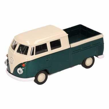 Speelgoed groene volkswagen t1 pick up auto 1:36