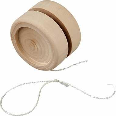 Speelgoed jojo van hout 5 cm voor kinderen