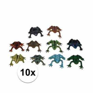 Speelgoed kikkertjes 10 stuks 5 cm