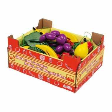Speelgoed kist voor groenten winkeltje
