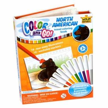 Speelgoed kleurboek amerikaanse dieren