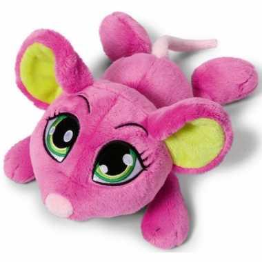 Speelgoed knuffel muis roze 50 cm