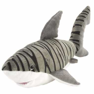 Speelgoed knuffel tijgerhaai 38 cm
