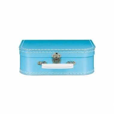 Speelgoed koffertje blauw 25 cm