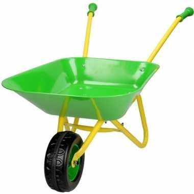 Speelgoed kruiwagen groen/geel voor kinderen
