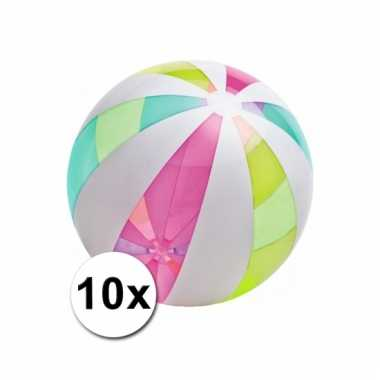 Speelgoed neon strandballen mega 10x