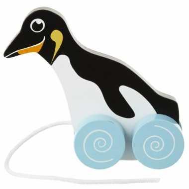 Speelgoed pinguin trekdier 13 cm