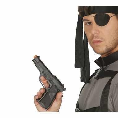 Speelgoed politie wapen zwart 19 cm