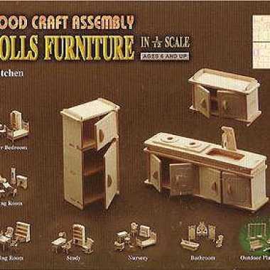 Speelgoed poppenhuis meubels keuken