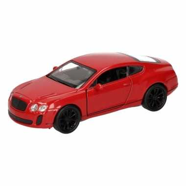 Speelgoed rode bentley continental supersports auto 12 cm