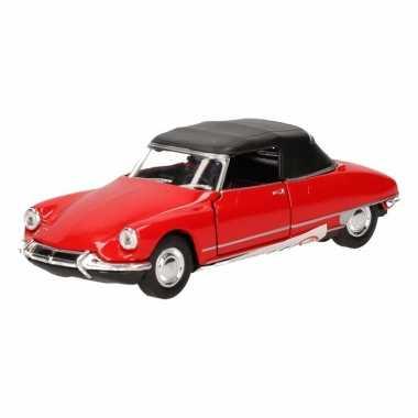 Speelgoed rode citro?n ds19 cabriolet auto 4 cm