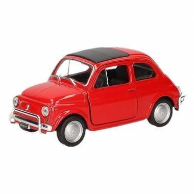 Speelgoed rode fiat 500 classic auto 1:36