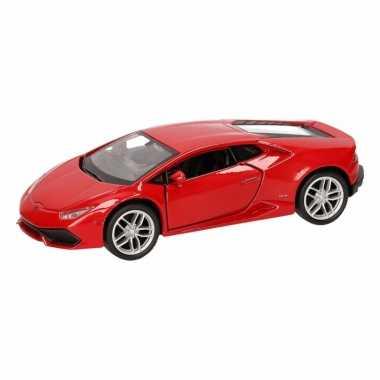 Speelgoed rode lamborghini huracan lp610-4 auto 12 cm