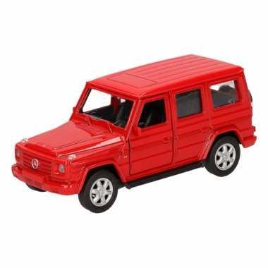 Speelgoed rode mercedes-benz g-class speelauto 12 cm