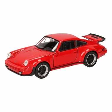 Speelgoed rode porsche 911 turbo auto 12 cm