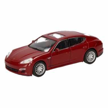 Speelgoed rode porsche panamera s auto 12 cm