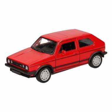 Speelgoed rode volkswagen golf i gti speelauto 12 cm