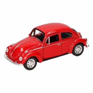 Speelgoed rode volkswagen kever classic auto 14,5 cm