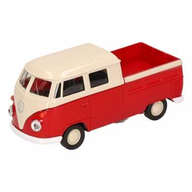 Speelgoed rode volkswagen t1 pick up auto 1:36