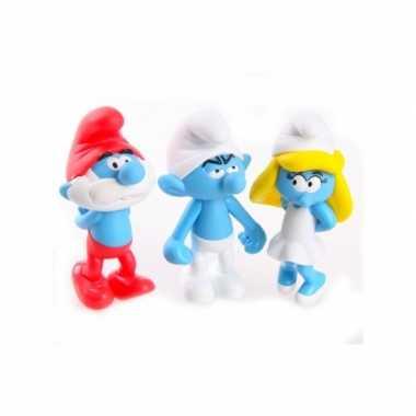 Speelgoed smurf 3 stuks 13 cm
