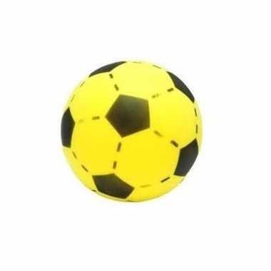 Speelgoed softbal met voetbalprint