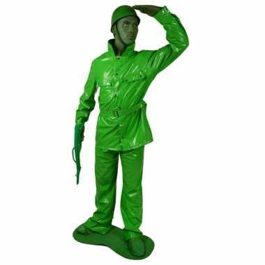 Speelgoed soldaat kostuum groen