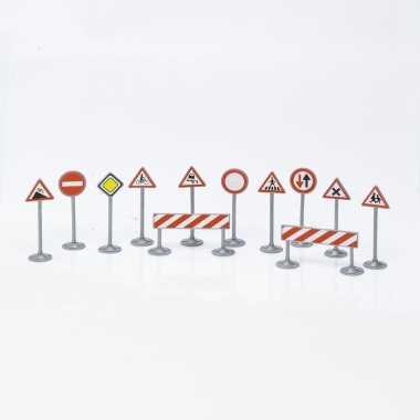 Speelgoed verkeersborden set 12 delig type 1