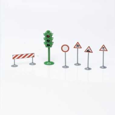 Speelgoed verkeersborden set 6 delig type 2