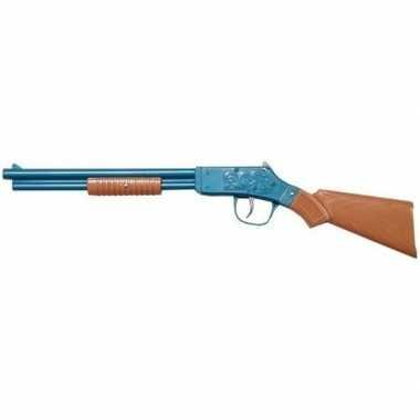 Speelgoed/verkleed cowboy geweer blauw 50 cm.