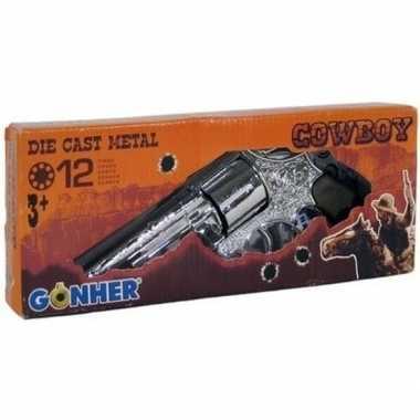 Speelgoed verkleed cowboy plaffertjes pistool 12 schots