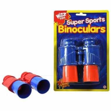 Speelgoed verrekijker rood/blauw voor kinderen