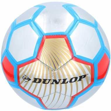Speelgoed voetbal rood/zilver/blauw 23 cm