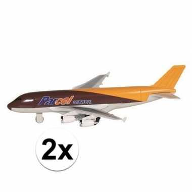 Speelgoed vracht vliegtuig 19 cm