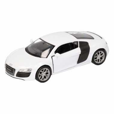 Speelgoed witte audi r8 auto 1:36