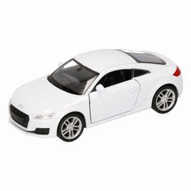 Speelgoed witte audi tt 2014 coupe auto 12 cm