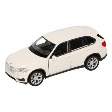 Speelgoed witte bmw x5 auto 1:36