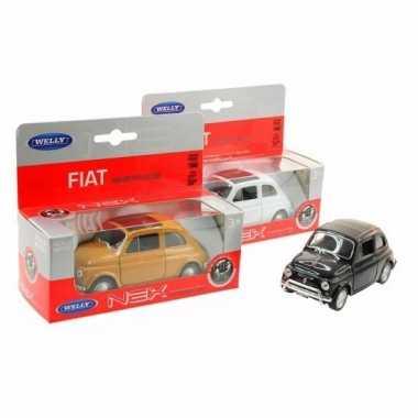 Speelgoed witte fiat 500 classic auto 1:36