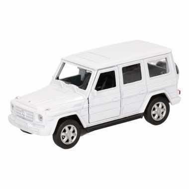 Speelgoed witte mercedes-benz g-class speelauto 12 cm