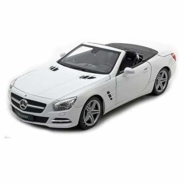 Speelgoed witte mercedes-benz sl500 2012 open cabrio 1:36