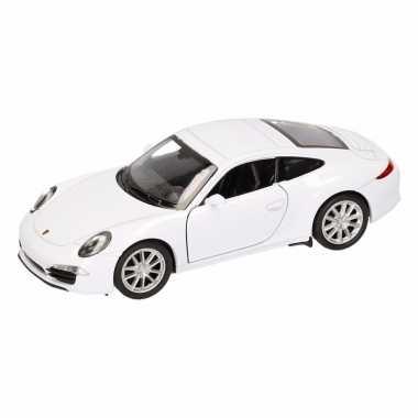 Speelgoed witte porsche 911 carrera s auto 1:36