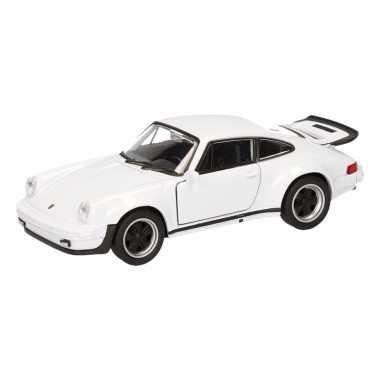 Speelgoed witte porsche 911 turbo auto 12 cm
