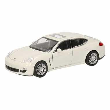 Speelgoed witte porsche panamera s auto 12 cm